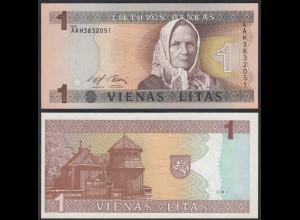 LITAUEN - LITHUANIA 1 Litas 1994 PICK 53a UNC (1) (26801