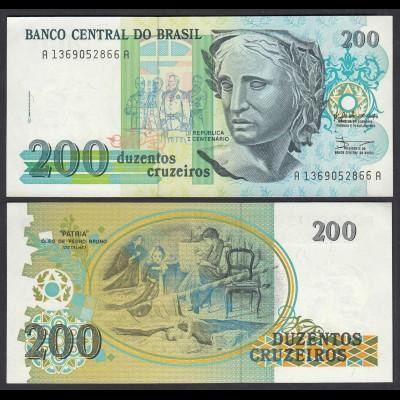 Brasilien - Brazil 200 Cruzaros (1990) Pick 229 UNC (1) (26804