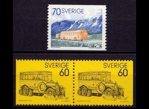 Schweden - Sweden Mi. 790/91 Post Omnibus ** mit D/D (6949