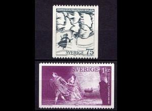 Schweden - Sweden 1973 Mi. 792/93 Musik Oper Opera (6950