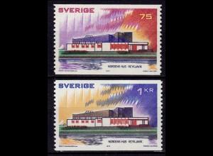 Schweden - Sweden 1973 Mi. 808-09 ** Haus des Nordens (6956