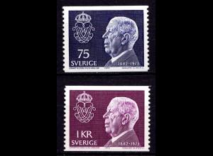 Schweden - Sweden 1973 Mi. 826-27 ** Tod König Gustav VI. (6960