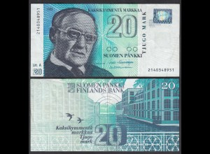 FINNLAND - FINLAND 20 MARKKA 1993 PICK 123 VF (3) (26821