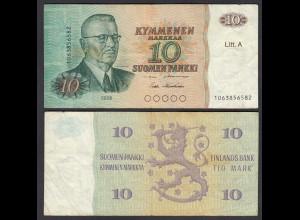 FINNLAND - FINLAND 10 MARKKA Litt. A 1980 PICK 112 F (4) (26822