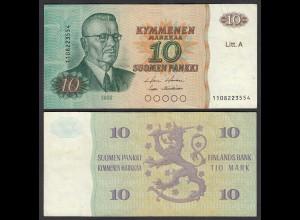 FINNLAND - FINLAND 10 MARKKA Litt.A 1980 PICK 112 VF (3) (26823