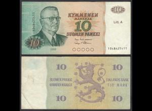 FINNLAND - FINLAND 10 MARKKA Litt. A 1980 PICK 112 VF (3) (26824