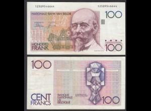 Belgien - Belgium 100 Francs Banknote ND (1982-94) Pick 142a VF (3) (26845