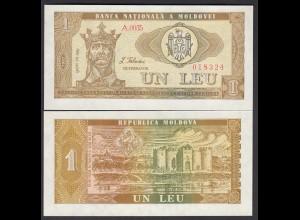 Moldawien - Moldova - 1 Leu Banknote 1992 Pick 5 UNC (1) (26861