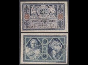 Reichsbanknote 20 Mark 1915 Ro 53 aUNC (1-) (26869