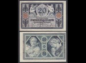 Reichsbanknote 20 Mark 1915 Ro 53 aUNC (1-) (26870