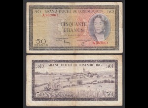 Luxemburg - Luxembourg 50 Francs 1961 Pick 51 - F (4) (26873
