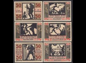 Naumburg 6 Stück Banknoten Notgeld 1920 (26874