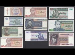 Burma - Myanmar 10 Stück Banknoten AU/UNC (1/1-) (26880