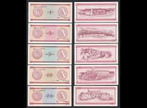 Kuba - Cuba 1-20 Peso Foreign Exchange Certificates 1985 Pick FX1-FX5 XF (2)