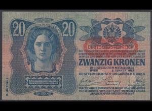 Österreich - Austria 20 Kronen 1919 (1913) Pick 53a aUNC (1-) (26920