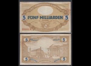 Karlsruhe 5- Milliarden Mark 1923 Notgeld Gutschein Starnote (26986