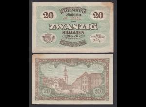 Karlsruhe 20- Milliarden Mark 1923 Notgeld Gutschein (26988