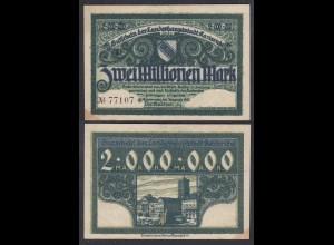 Karlsruhe 2- Millionen Mark 1923 Notgeld Gutschein Starnote (26989
