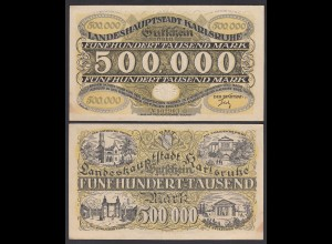 Karlsruhe 500- Tausend Mark 1923 Notgeld Gutschein Starnote (26990
