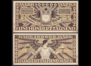 Baden 500.000 500000 Mark 1923 Länderbanknote Ro BAD10 Serie J (26994