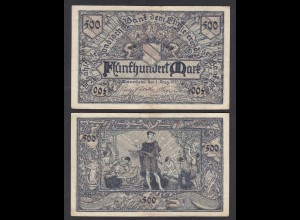 Baden 500 Mark 1922 Länderbanknote Ro BAD7a (26997