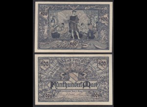Baden 500 Mark 1922 Länderbanknote Ro BAD7a (26998