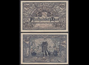 Baden 500 Mark 1922 Länderbanknote Ro BAD7a (26999