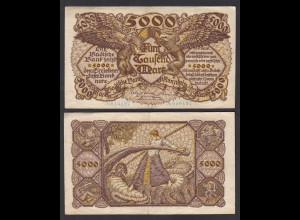 Baden 5.000 5000 Mark 1922 Ro BAD8a Länderbanknote (27001