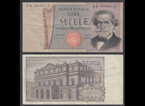 Italien - Italy 1000 Lire Banknote 1973 Pick 101c F (4) (27019