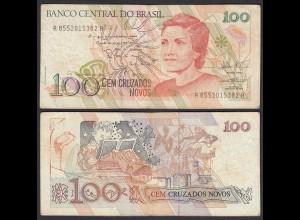 Brasilien - Brazil 100 Cruzaros NOVOS (1989) Pick 220b F (4) (27026
