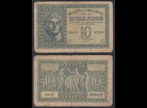 Griechenland - Greece IONIAN ISLAND 10 Dr. 1941 Pick M13 VG (5) (27028