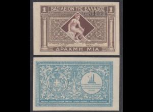 Griechenland - Greece Königreich 1 Drachma (1917) Pick 304 AU (1-) (27031