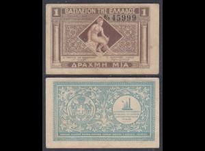 Griechenland - Greece Königreich 1 Drachma (1917) Pick 304 VF (3) (27032