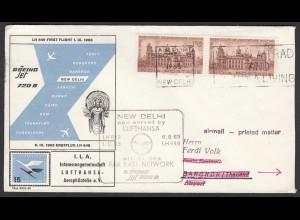 Erstflug Lufthansa LH648 NEW DELHI - BANGKOK Thailand 1963 (25142