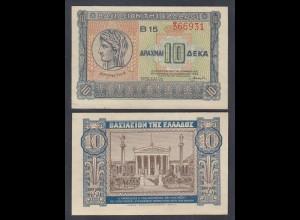 Griechenland - Greece Königreich 10 Drachma 1940 Pick 314 XF (2) 27050