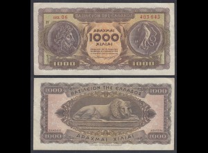 Griechenland - Greece Königreich 1000 Drachmai 1953 Pick 326b VF (3) 27053