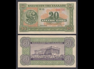 Griechenland - Greece Königreich 20 Drachmai 1940 Pick 315 UNC (1) 27060