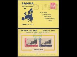Sanda Island Euopa 1962 Card Great Britain Local Issues (27089