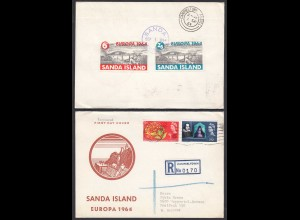 Campbeltown Sanda Islands 1964 S/S First Day Cover Great Britain Local (27093