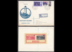 DAVAAR ISLANDS 1965 R-Cover S/SHEET Great Britain Local Issues (27108
