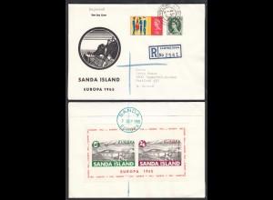 Sanda Island Euopa 2.Sep.1965 Cover S/Sheet Great Britain Local Issues (27112