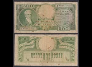 Griechenland - Greece 500 Drachmai 1945 Pick 171 F/VG (4/5) (27083