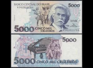 Brasilien - Brazil 5000 Cruzados Banknote 1992 Pick 232b AU (1-) (27087