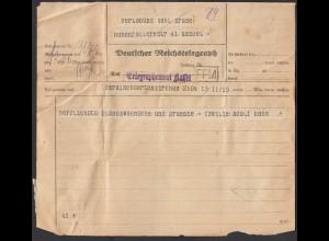 Deutscher Reichstelegraphenamt Kassel Telegramm 1927 Garmischpartenkirchen