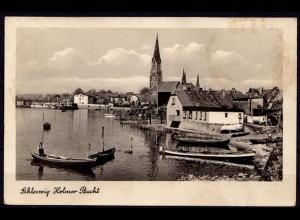 AK Schleswig Boote in der Holmer Bucht 1950 (6976