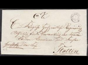 Preussen ca. 1830 UCKERMÜNDE K1 Umschlag nach Stettin (27170