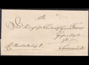 Preussen ca. 1825 USEDOM L2 Umschlag nach SWINEMÜNDE (27172