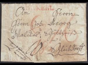 Baden 1809 R1 KEHL L1 taxierter Brief mit Inhalt (27173