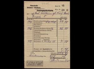 Empte bei Buldern Dülmen 1938 Steuer Quittung der Amtskasse (6923