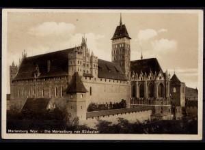 AK Marienburg Westpreussen Burg von Südost 1933 gelaufen (6961